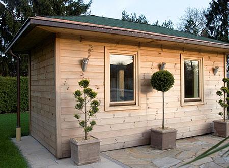 Exterierova sauna v zahrade