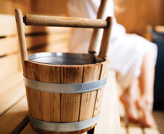 Vedro v saune